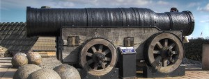 Mons Meg, at Edinburgh Castle; constructed in 1449. Photo from Wikipedia, http://en.wikipedia.org/wiki/Mons_Meg